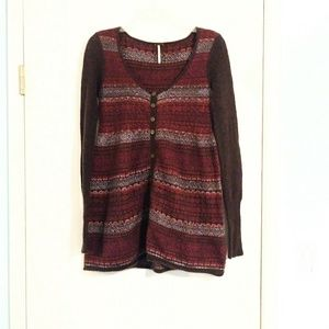 Free People Button Down Sweater Dress